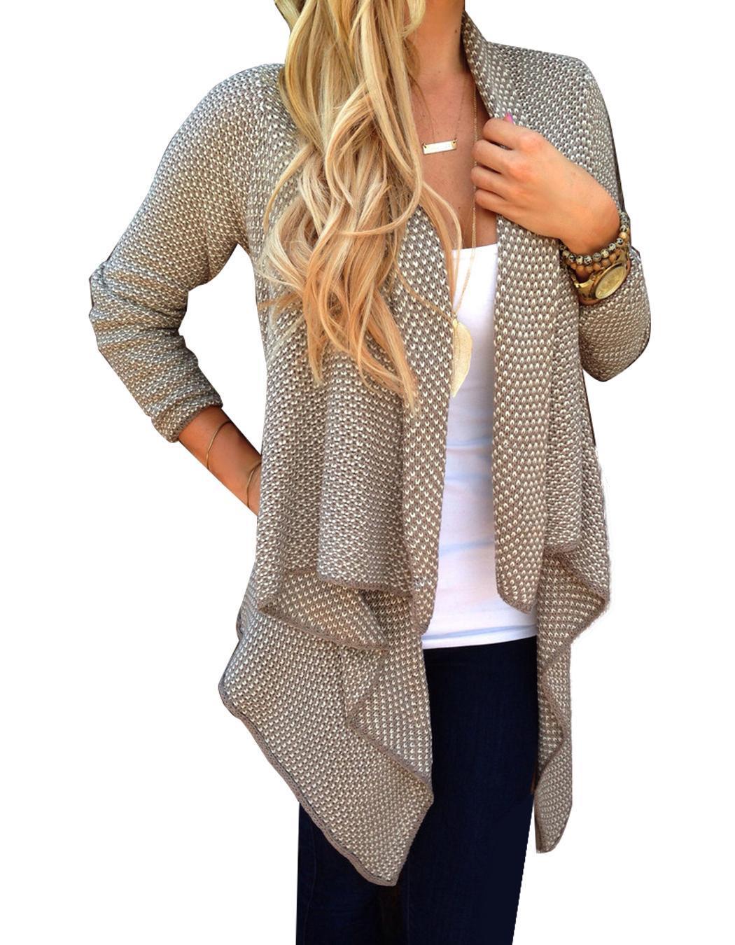 849f3a3fa Details about 2015 Stylish Ladies Women Loose Casual Knit Cardigan Jacket  Irregular EN24H 04