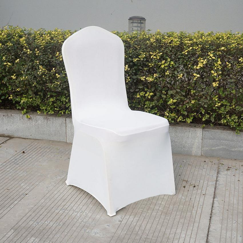 400PCS SPANDEX LYCRA CHAIR COVER WHITE COVERS BANQUET WEDDING PARTY ANNIVERSARY