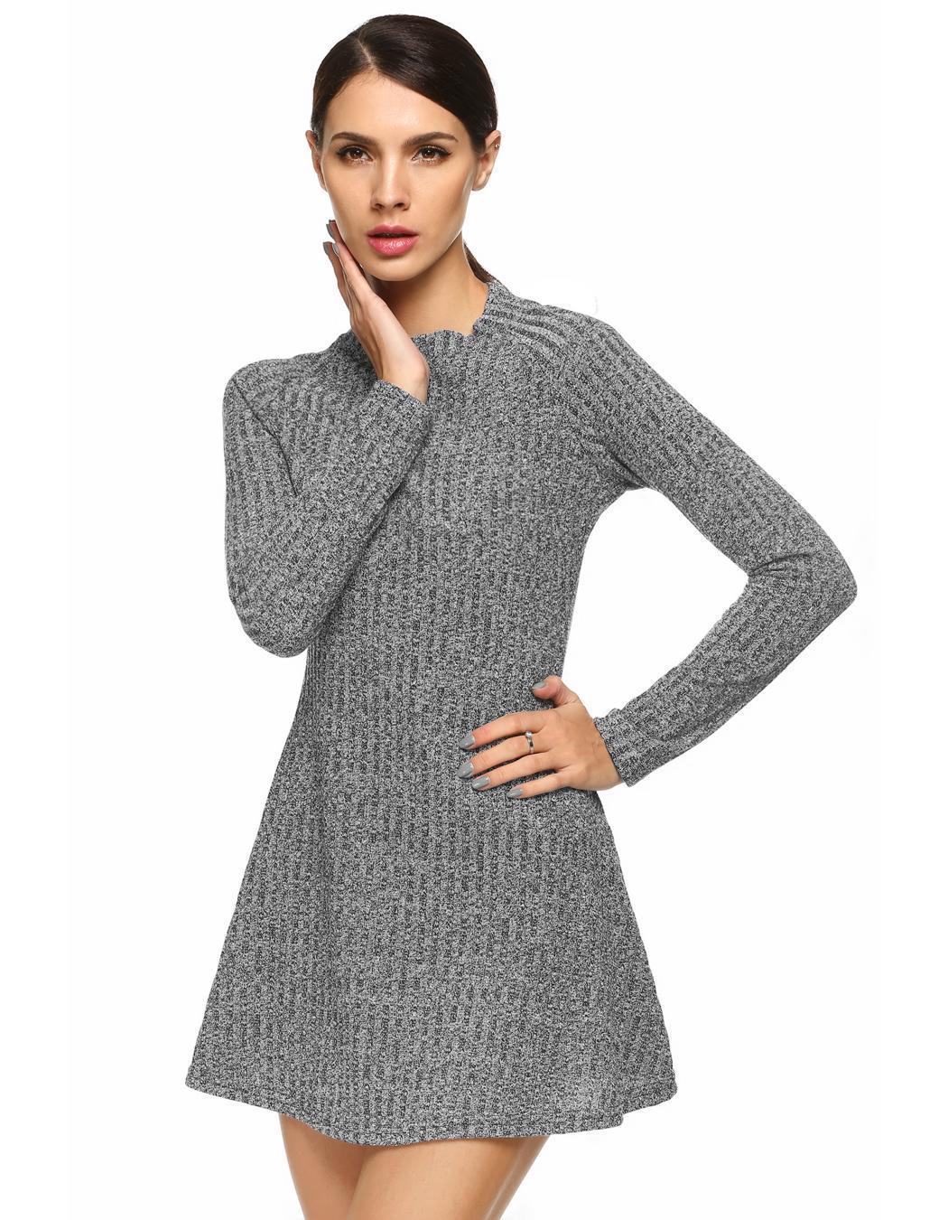 Vestito donna mini abito casual maglia lunga smile strass maniche corte nuovo