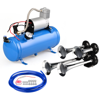 details about super loud 120 psi 6l 4 trumpet train air horn compressor kit  complete system