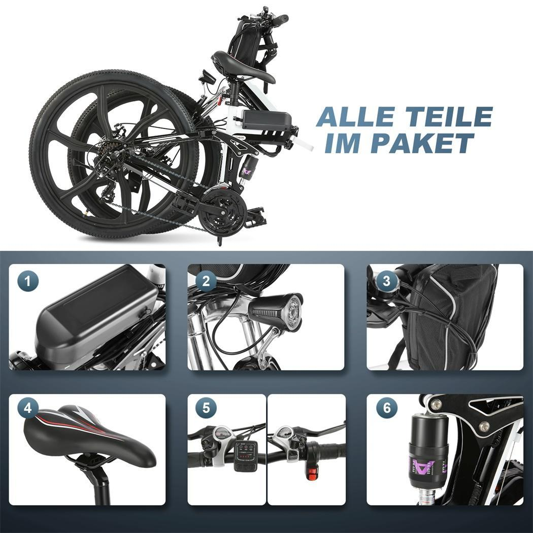 elektro klapprad 26 zoll elektrofahrrad ebike e bike. Black Bedroom Furniture Sets. Home Design Ideas