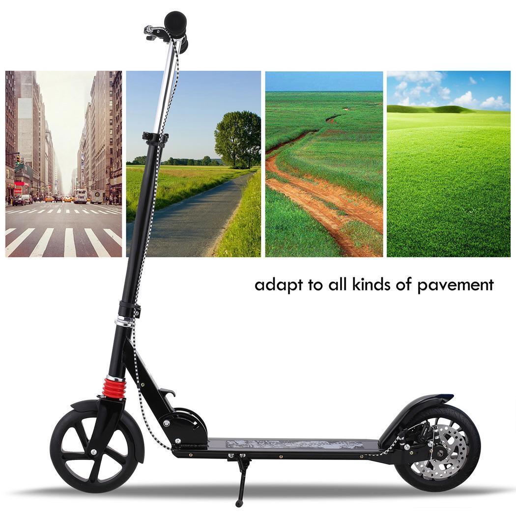 Cityroller Scooter Kickboard Doppelfederung Erwachsene Tretroller Klappbar NEUE
