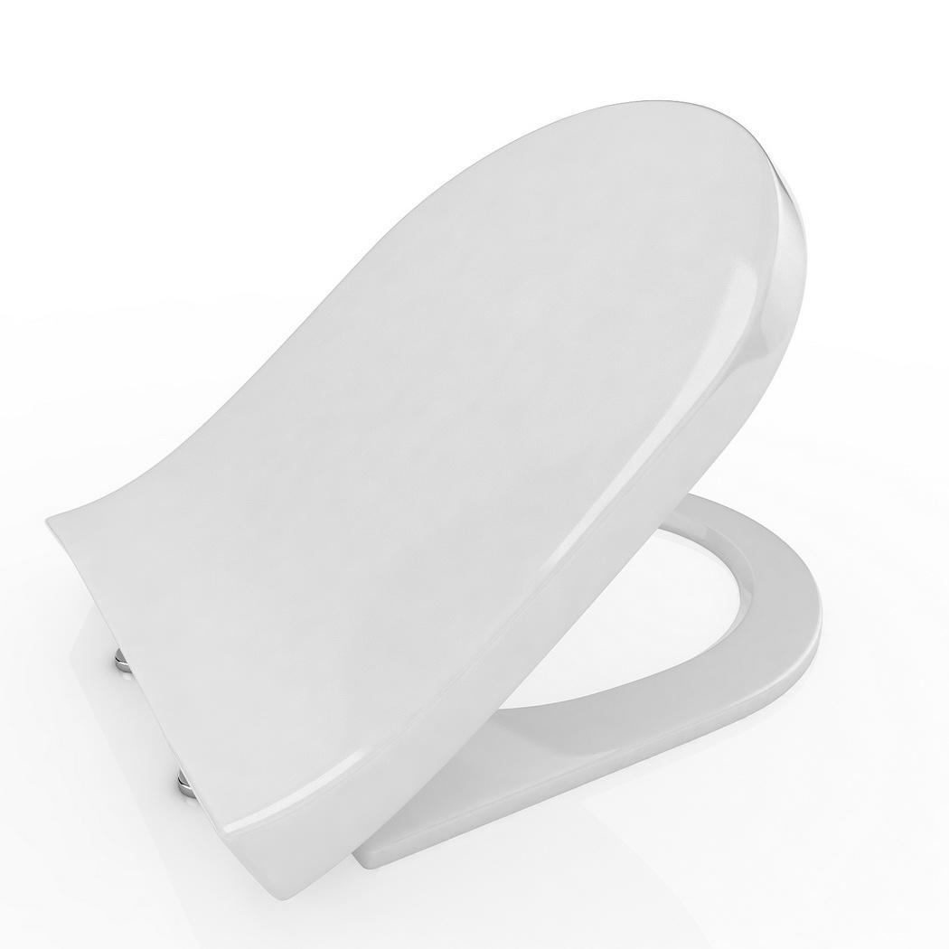 Slow Close Hinge Elongated Closed Front Toilet Seat White