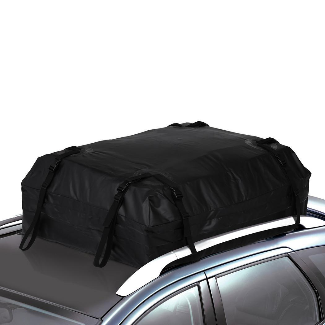 33d74c2fc4d241 Details about 19 Cubic Feet Waterproof Car Trucks Roof Top Cargo Storage Bag    4 Straps Bands