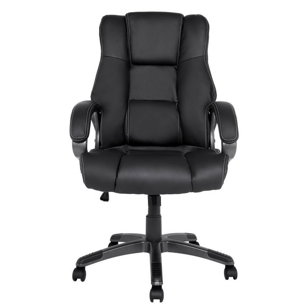 Details About High Back Swivel Executive Office Chair PU Leather Task  Ergonomic Computer Desk