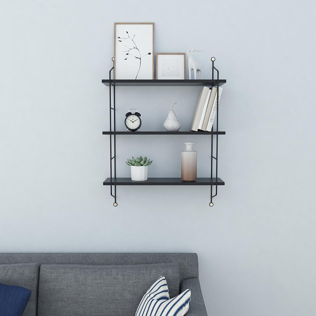 Details About Floating Shelves Wall Mounted Shelf Bracket Storage Rack Bookshelf 3 Tires