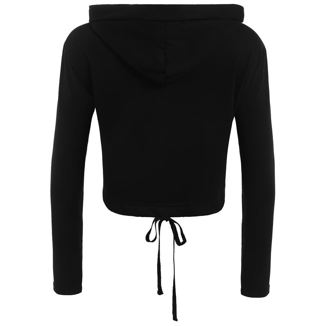 Women Long Sleeve Patchwork Pullover Hooded Hoodie Sweatshirt with EH7E