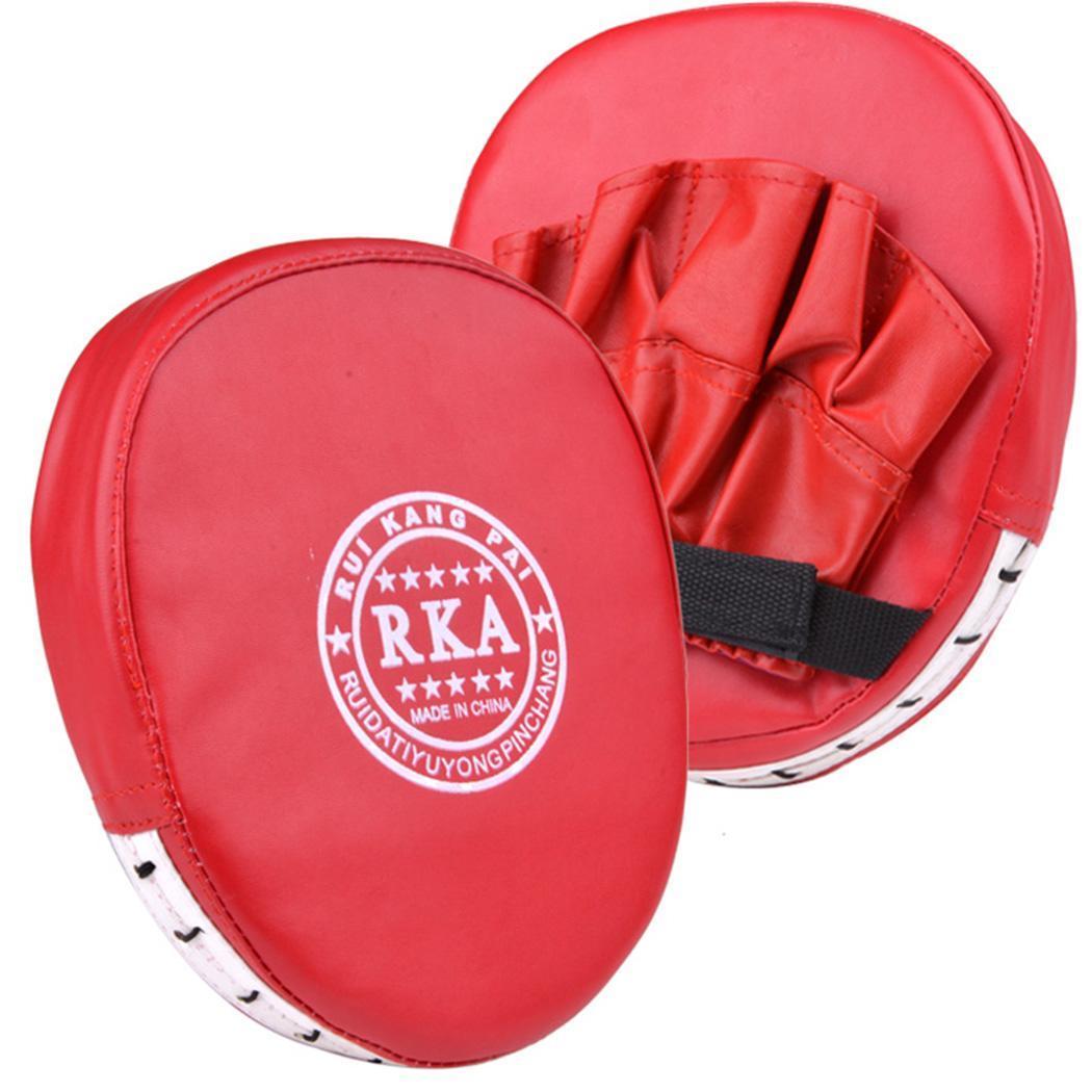 Boxing Mitt Training Pad Target Focus Punch Pad Glove MMA Karate Muay B98B