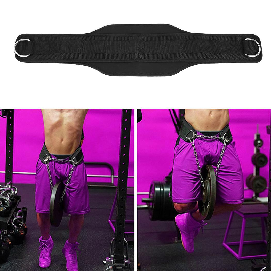 Waist belt chain body building home gym workout exercise pull up