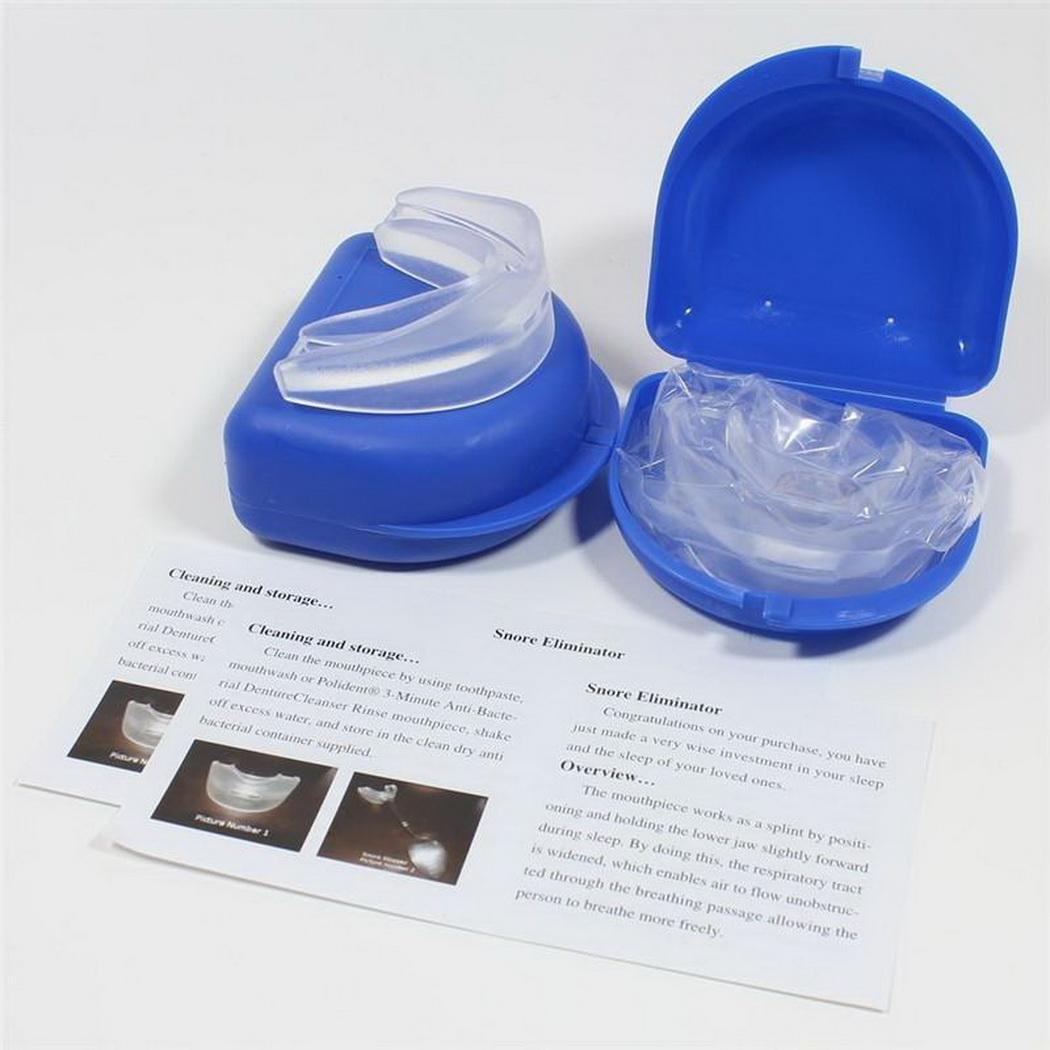 stop snoring mouthpiece apnea aid sleep anti snore bruxism grind mouthguard 731236243540