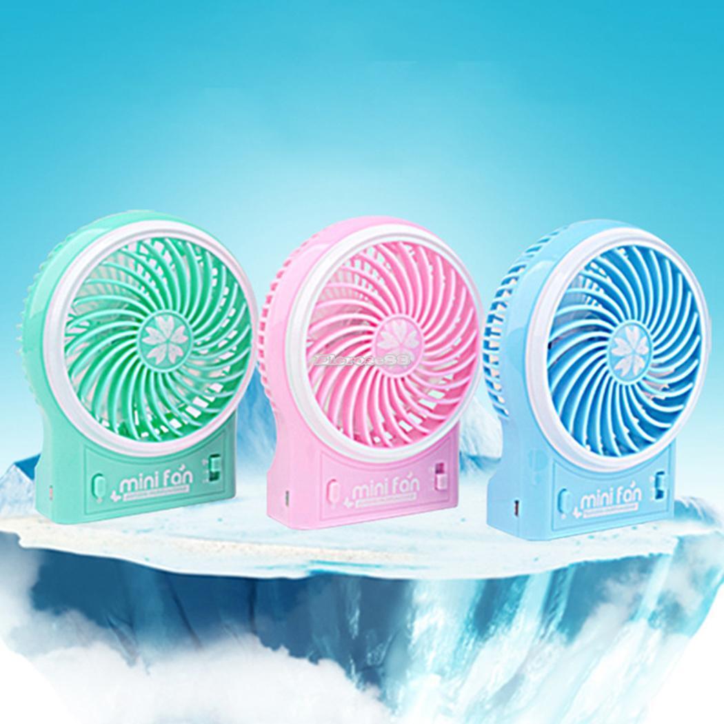 Air Cooler USB Handheld Charging Fan Children Portable Folding Mini Fan Cartoon USB Fan Random Color Delivery Color : 1pcs Round Fan and 1pcs Square Fan