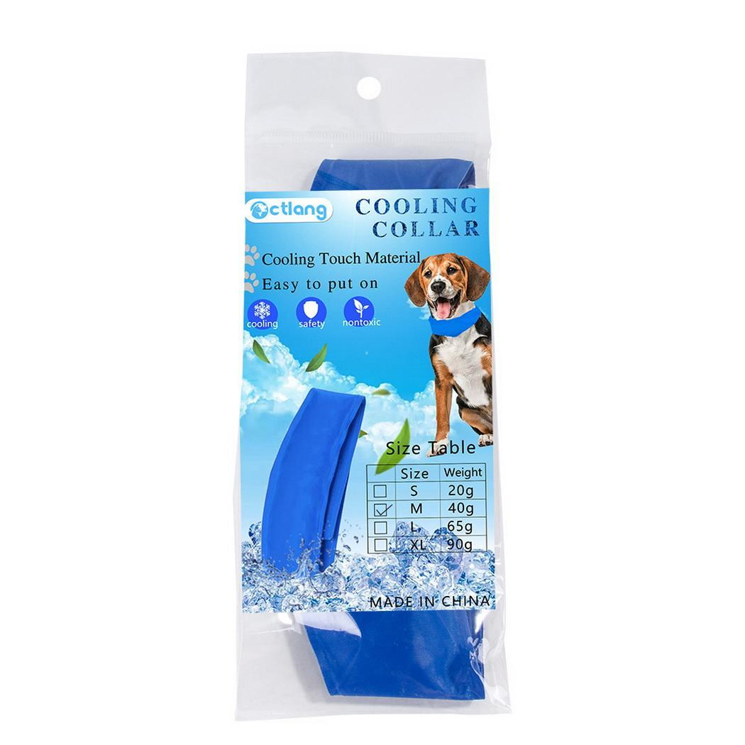Details about Portable Fastening Tape Solid Summer Cool Down Pet Dog Collar  N4U8