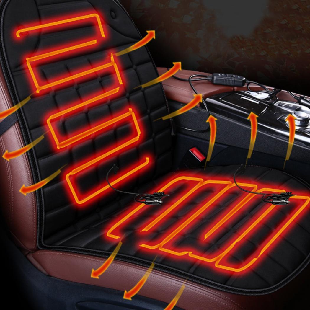 Heated Car Seat Cushion Cover Warmer Winter Heating Pad Auto Supplies EH7E