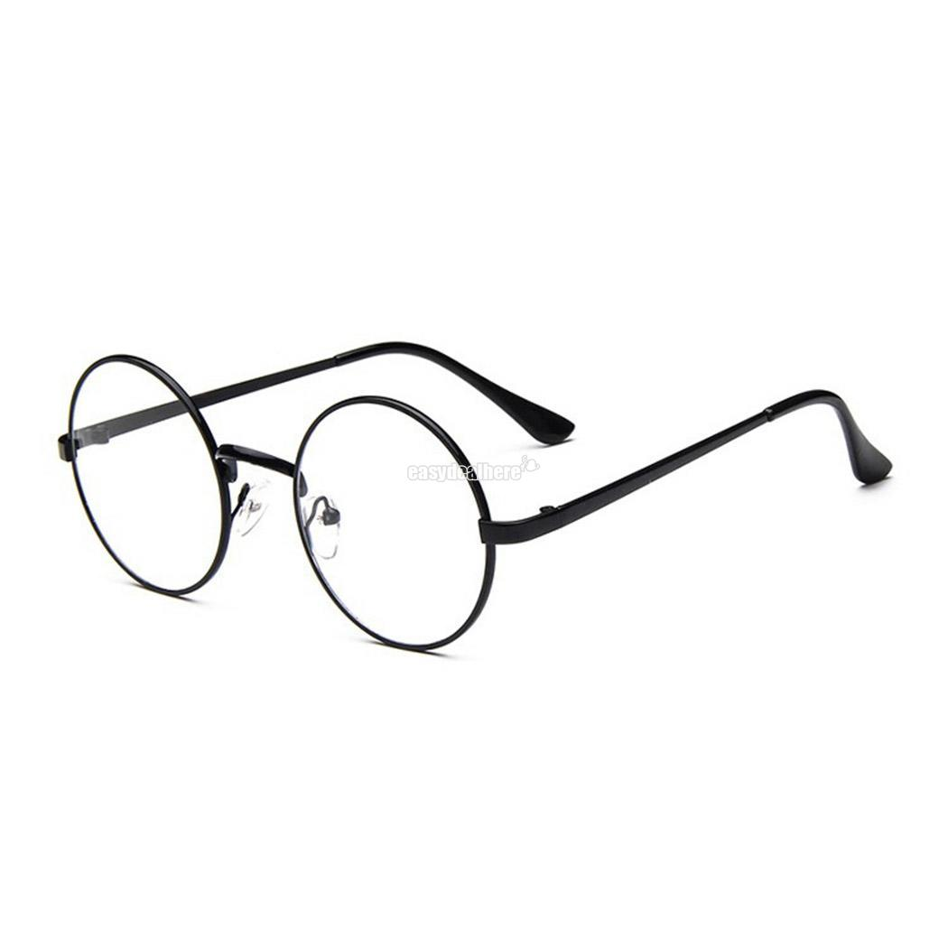 0fd5624b204 Details about Women Men Retro Vintage Metal Round Full Rim Glasses Frame  Clear Lens Eyeglasses
