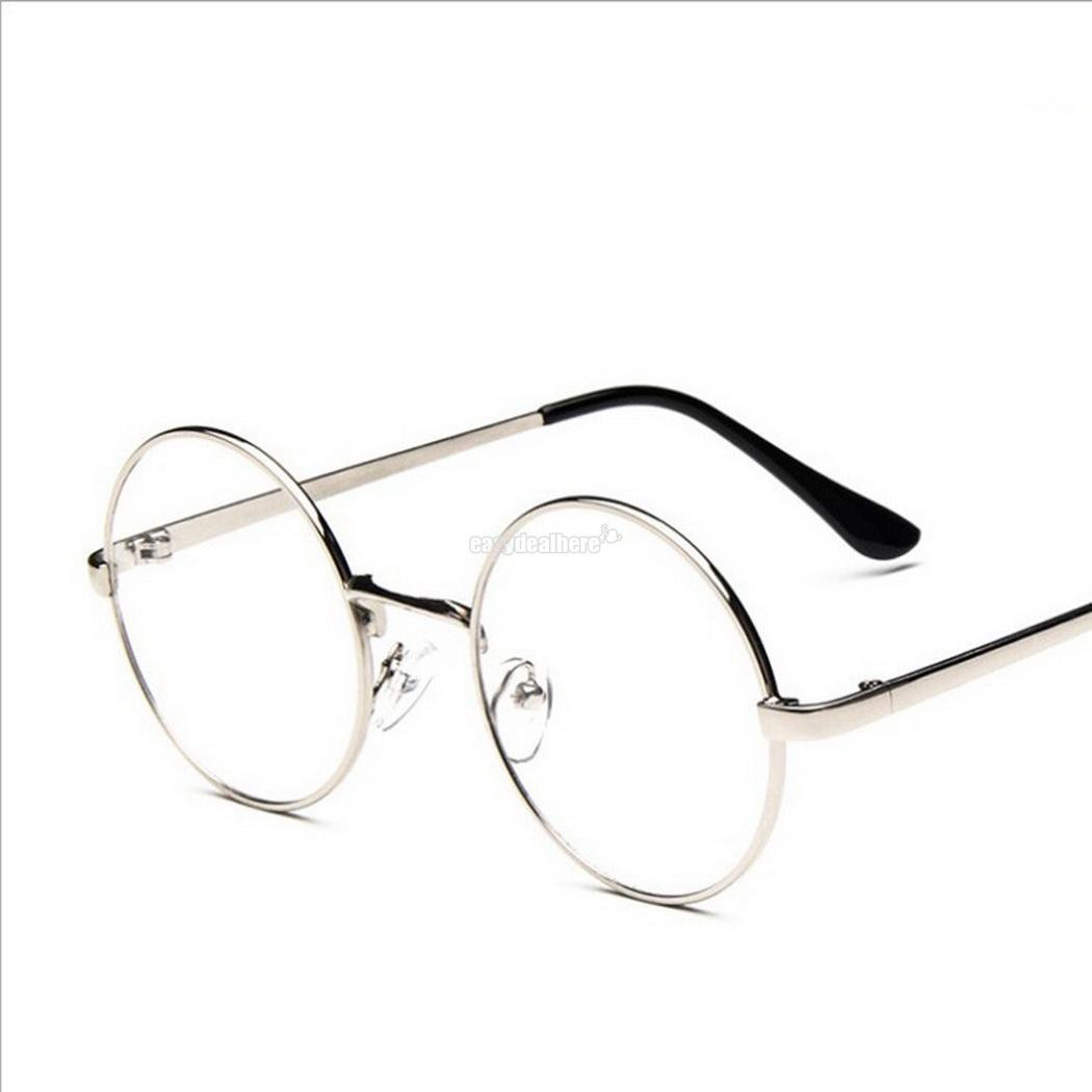 e9ca4a4f792d Details about Women Men Retro Vintage Metal Round Full Rim Glasses Frame  Clear Lens Eyeglasses
