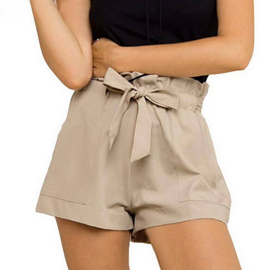 venta más barata amplia selección comprar genuino Details about Women's Mini Shorts Summer Beach Casual Short Hot Pants  Chiffon High Waist Belt